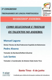 Cartaz workshop andebol